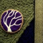 Felt brooch, purple tree pi..